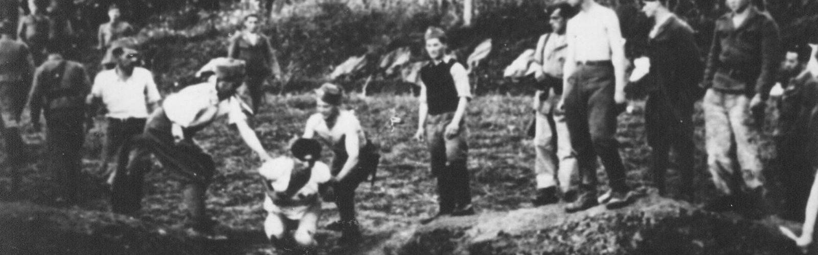 ustašovci vraždiaci väzňov jasenovac